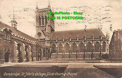 R085769 Cambridge. St. Johns College. First Court And Chapel. Friths Series. 191