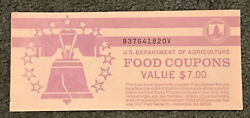 Value 7 Full Book Of Us Dept Of Agriculture Food Coupons Stamps Series 1998 B