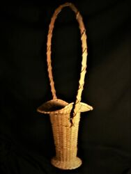 Antique Penobscot Ca 1890 American Indian Huge Basket Signed Mint Museum Quality