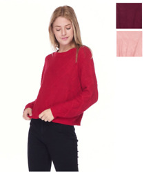 Women Sweater Pullover Jumper Cable Knitted Long Sleeve Blouse Crop Cropped $12.99