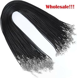 Wholesale Black Waxed Necklace Cord String For Necklace Bracelet Jewelry Making