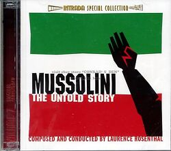 Laurence Rosenthal Mussolini The Untold Story Score Intrada Ltd 2cd Sealed