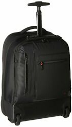 Hedgren Women#x27;s Excitor Backpack On Wheels 17quot; with Laptop Sleeve Black $239.02