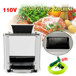 110v Stainless Commercial Electric Meat Slicer Cutting Machine Cutter 120kg/hour