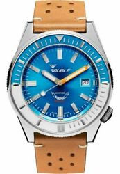 Squale Matic Light Blue Leather Light Brown Maticxse.ptc