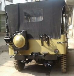 Stitched Canvas Soft Top For Jeep Ford Willys Mb Gpw 1941-1948 Khaki And Black