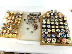 Vintage Sewing Thread Lot And Racks