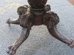 Empire Classical Carved Acanthus Paw Foot Philadelphia Mahogany Table 1820