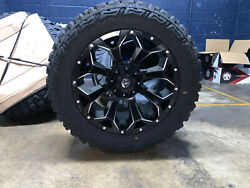 20x10 Fuel D546 Assault 33 Mt Wheel And Tire Package 6x5.5 Chevy Suburban Tpms