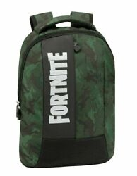 Fortnite Backpack Free Time Colour Camouflage Green 1 Zip