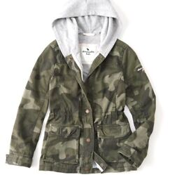 Abercrombie Kids Camo Military Jacket Youth Girl Size 5 6 $24.99