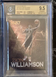 2019-20 Panini Select Zion Williamson Artistic Selections Bgs 9.5 Rc Pelicans