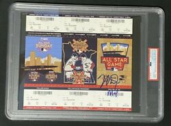 Mike Trout Signed/autograph 2014 All Star Game Ticket Panel W/ Mvp Psa/dna