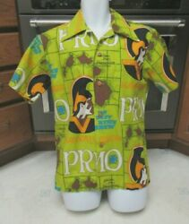 Vintage 1970and039s Primo Beer Hawaiian Holidays Shirt Thick Cotton Mint Menand039s Medium