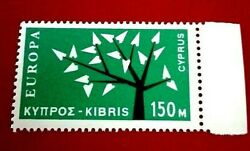 Cyprus1963 Europa Stamps 150m Rare And Collectible Stamp.