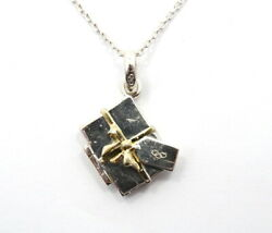 Links Of London Christmas Gift Box Locket Sterling Silver Charm Pendant Necklace