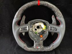 Steering Wheel For Audi B8 S5 Forged Carbon A4/s3/rs4/rs5/s6/a6/a7/a8/r8/a5/tt