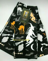 3 Cynthia Rowley Black Cats Witch Halloween Fall Curious Kitchen Dish Towels