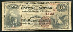 1882 10 Bb The Newport National Bank Rhode Island National Currency Ch. 1492