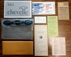 1965 Chevelle Glove Box Docs Package, Owners Manual And Matching Protect-o-plate