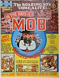 Mm In The Days Of The Mob 1971 Nm- Jack Kirby W/ Poster Attached Glossy Cover.