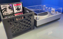 Crate For 3 Records In Red Black Or Gray