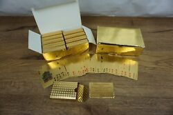 Bulk Lot Of 20 Sets Of 24k Gold Foil Plated Poker Playing Cards Waterproof Gift