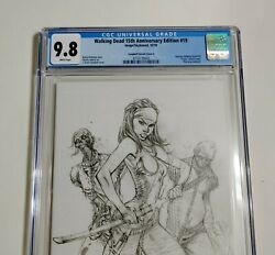 Walking Dead 19 Cgc 9.8 E Variant 15th Anniversary Virgin Sketch White Pages