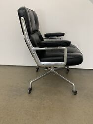 Vintage 1978 Eames Executive Leather Chair Time Life Herman Miller Modernist