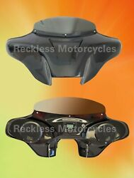 Batwing Fairing For Harley Davidson 94-17 Softail Deluxe 2x6.5 + Pmx1