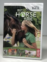 My Horse amp; Me Nintendo Wii 2008 New Cracked Case.