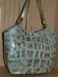 BRAHMIN THELMA LEATHER MAJORELLE LARGE SHOULDER PEWTER BAG NEW WITH TAGS $277.97