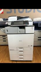 Ricoh Mpc-3503 Color And B/w Print-scan-fax Low Meter/finisher Included