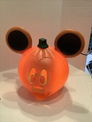 Vintage Mickey Mouse Lighted Pumpkin Blow Mold 12andrdquo Disney Mickey Mouse Pumpkin