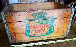 Canada Dry Beverages Wood Small Bottle Crate Box Original 16wx9hx11d 1956