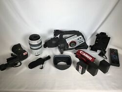Canon Xl2 3ccd Digital Video Camcorder W Anton Bauer Gold Mount Adapter + Extras