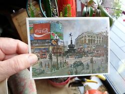 Ancienne Affiche Coca Cola Carte Postale London Piccadilly Circus +taxi H Moss
