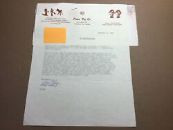 Art Clokey Hand Written And Signed Letter By Gumby's Creator From 12/21/83