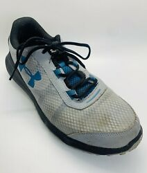 Under Armour Mens Charged Toccoa Running Shoes Gray Blue Size 11.5 Reflector