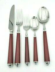 Claridge Burgundy Stainless Steel 5 Pc. Place Setting By Mikasa 10981