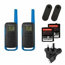Motorola Talkabout T62 Two Way Radios Blue - Free Pandp Ire And Uk