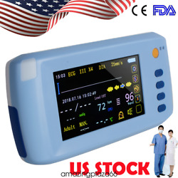 Portable 6-parameter Vital Sign Patient Monitor Tft- Lcd Touch Screen Medical A+