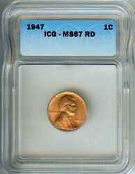 1947 Lincoln Small Cent Appears An Oustanding Red Gem++ Very Hihg Value......