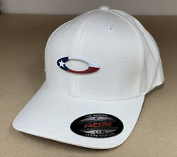 Oakley White Tincan Texas Flag Edition Hat Flex Fit Size Large XL $25.00