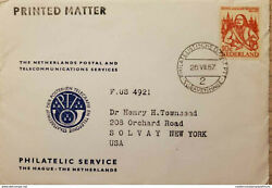 I 1957 Nederland, Admiral M. A. De Ruyter, Orange Stamp, Circulated Cover From