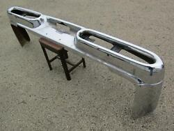 57 1957 58 Chrysler Imperial Nice Original Rear Bumper Complete With Bumper Ends
