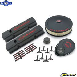 Proform Complete Dress-up Kit Black Crinkle For 1958-1986 Chevy Small Block