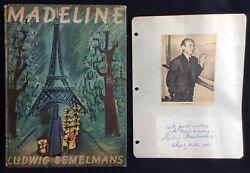 Madeline W/ Signed Page By Ludwig Bemelmans 1st/1st Edition 1939
