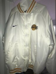 White Xxl La Lakers Starter Jacket, Good Condition, True Old School Throwback