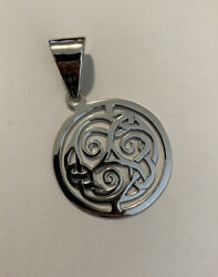 Retired Silpada S1230 Large Sterling Silver .925 Celtic Knot Round Pendant